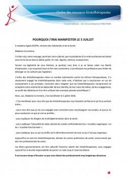 Lettre ouverte P. MATHIEU manifestation 5 juillet 2018